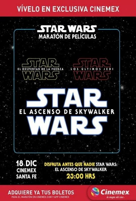 Star Wars Ascenso Skywalker Mexico Maraton