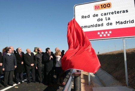 Inauguración carretera M100