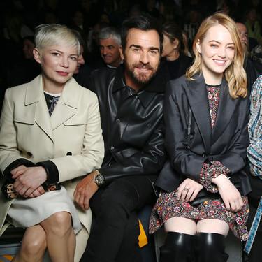 Las vip en el 'front row' del desfile de Louis Vuitton