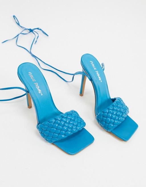 Sandalias acolchadas en azul pitufo