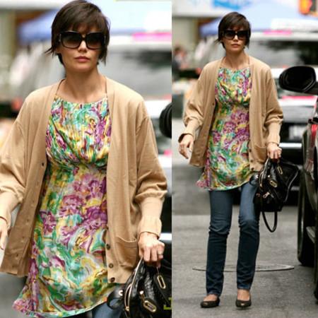 Katie Holmes y su look floral