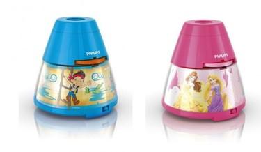 Lámparas con proyector de los personajes de Disney