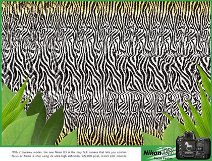Estereogramas en los anuncios de la Nikon D3