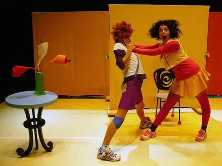 Sergio y Anita jugando