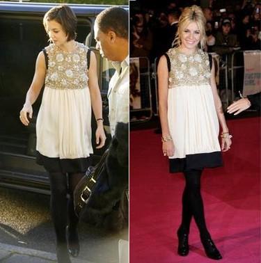 Vestido de Balenciaga: ¿Sienna Miller o Katie Holmes?