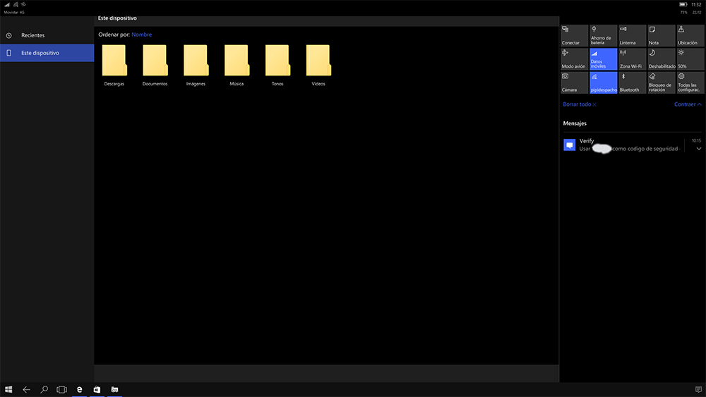 Continuum en Windows 10 Mobile