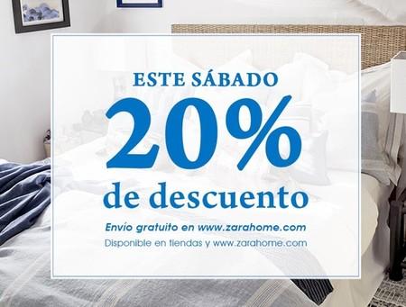 Este sábado, 20% de descuento y envío gratuito en Zara Home