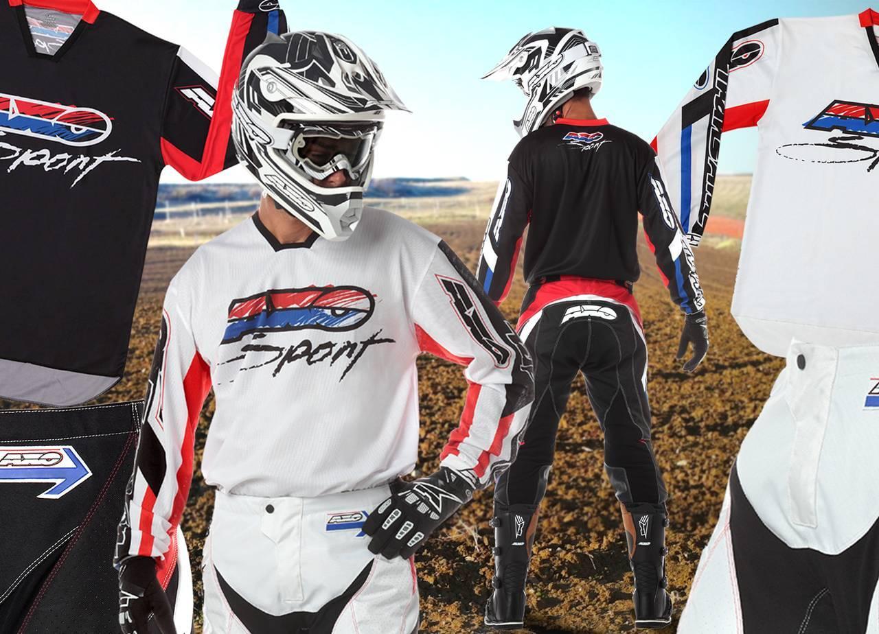 Foto de AXO Trans Am, estilo retro para la equipación de motocross (1/15)
