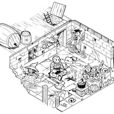 La ilustradora Laurielle está creando una mazmorra interactiva en Twitter