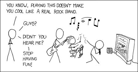 Rock Band chistoso