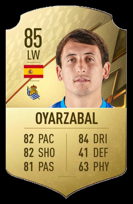 Oyarzabal mejores jugadores FIFA 22