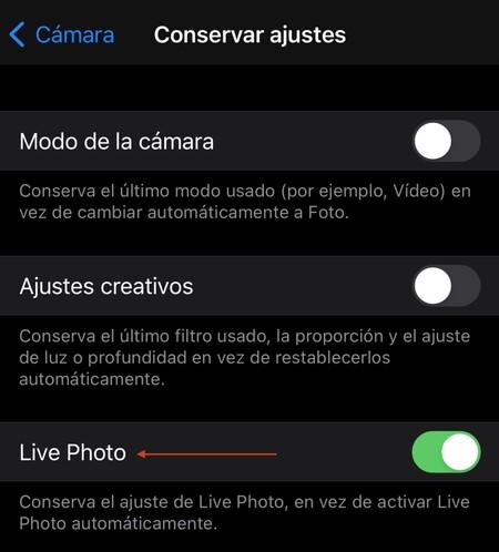 Desactivar Live Photos Iphone 4