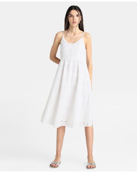 Vestido Blanco Calado De Unit
