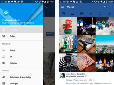 Metal: un cliente dos en uno para navegar por Facebook y Twitter que solo pesa 2,7MB