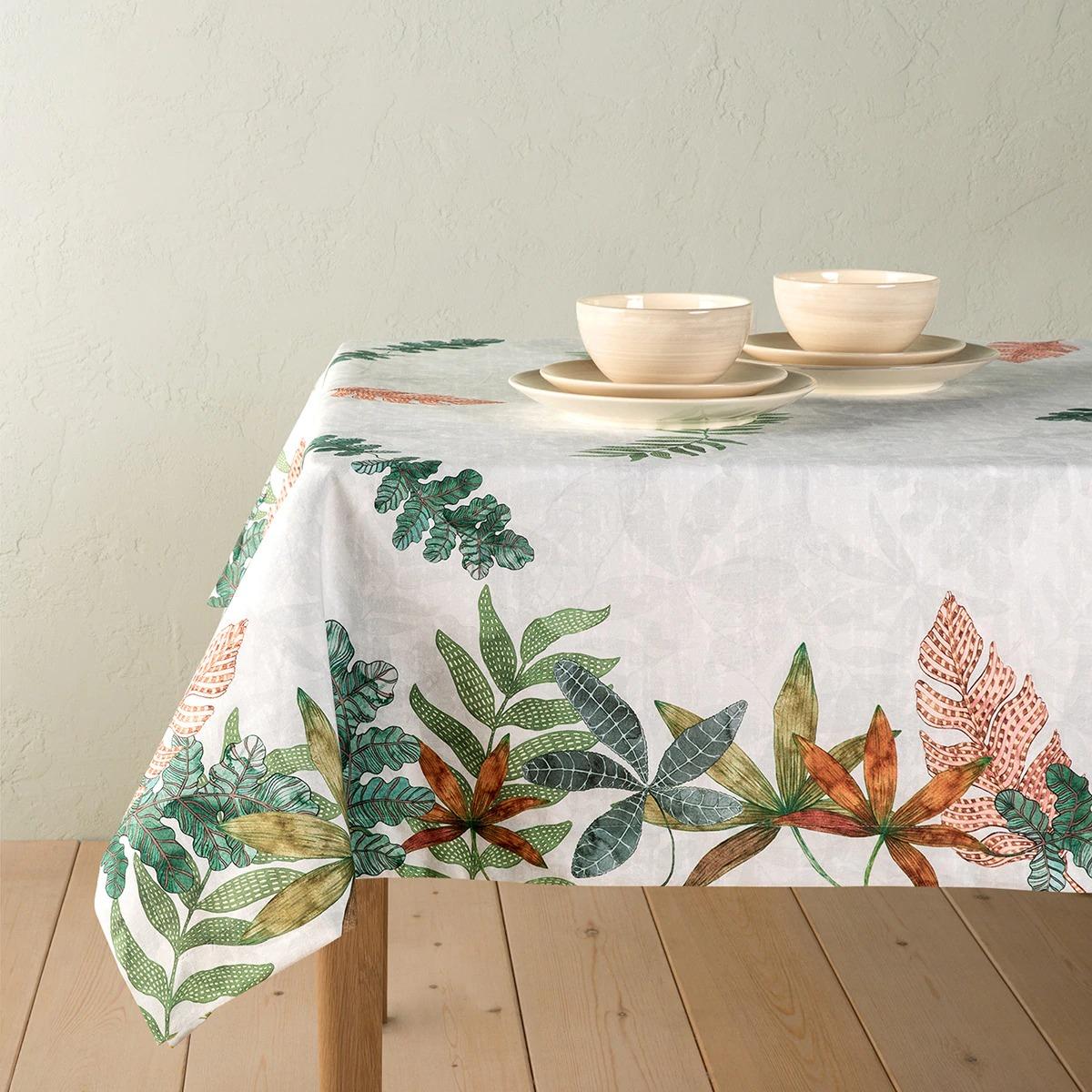 Mantel estampado de algodón modelo Oak