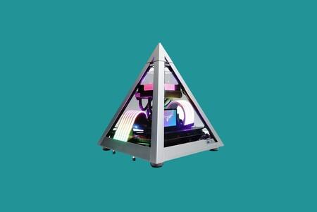 Si buscas caja para tu PC gaming y quieres probar nuevos diseños, ojo a esta AZZA en forma de pirámide a mínimo histórico