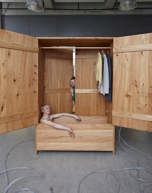 Juego De Un Baño Portatil:Una idea loca: un baño portátil para exteriores