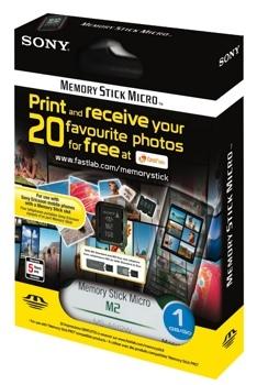 Impresión de fotografías gratis con tarjetas de memoria de Sony
