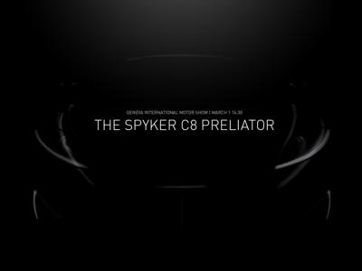 El nuevo Spyker C8 Preliator podría ser híbrido o eléctrico