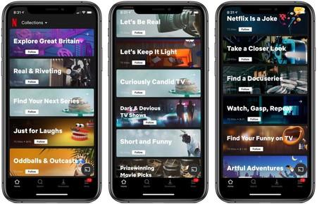 Colecciones Netflix iOS