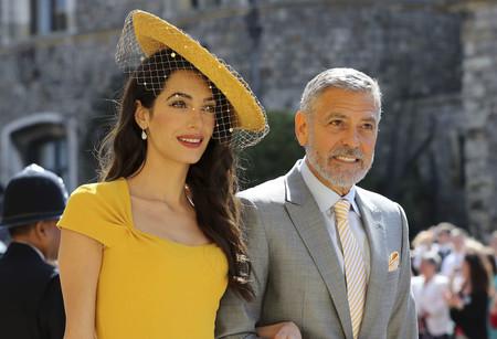 Boda del Príncipe Harry y Meghan Markle: Amal Clooney llega con un impresionante vestido amarillo y sorprende a todos