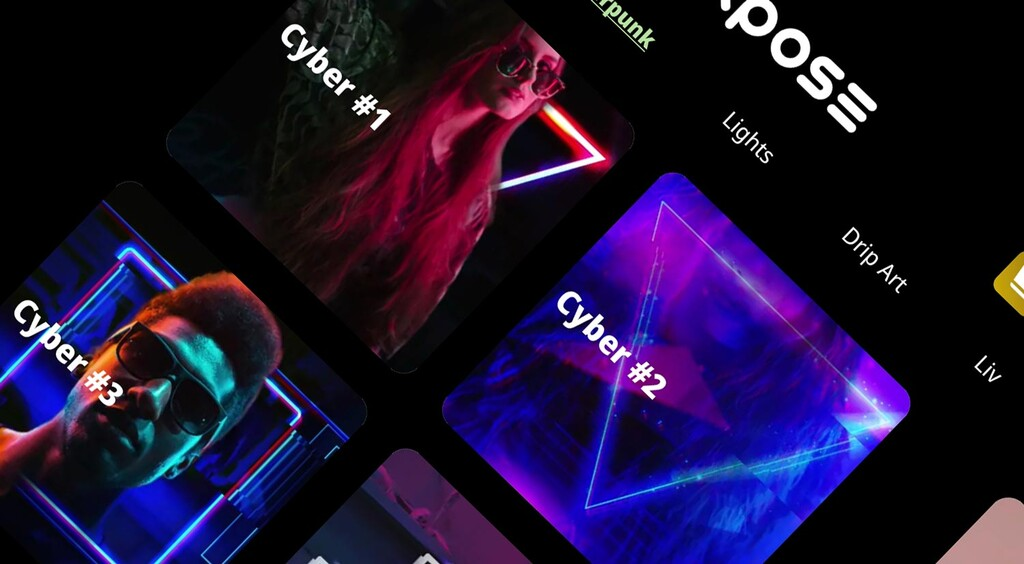 Expose, una app para crear efectos a lo Cyberpunk en cualquiera de tus fotos