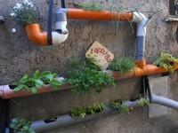 Recicladecoración: un huerto urbano en una vieja tubería