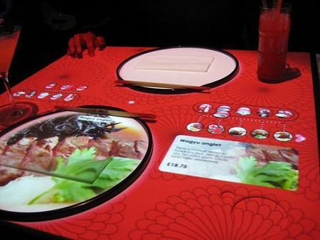 Inamo: restaurante londinense con mesas interactivas