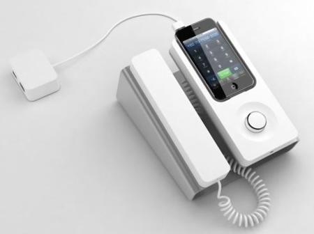 DeskPhoneDock, un dock para convertir tu iPhone en un teléfono de sobremesa