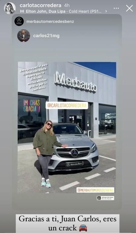 Carlota Corredera con su nuevo Mercedes