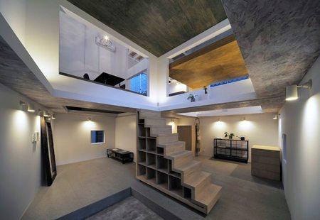 Casas poco convencionales: viviendo en una estantería gigante