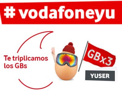 Triple de gigas en la tarifa yuser prepago de Vodafone hasta primavera dan la bienvenida a la mejora de tarifas