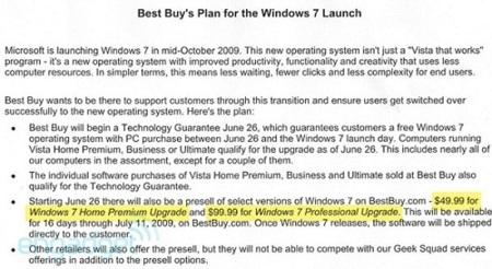 Los precios de Windows 7 podrían ser muy bajos