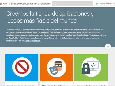 Google Play renueva el diseño de su Centro de Políticas de Desarrolladores