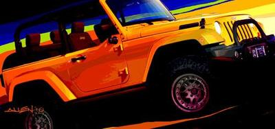 Bocetos de Mopar para el 44th Annual Easter Jeep Safari