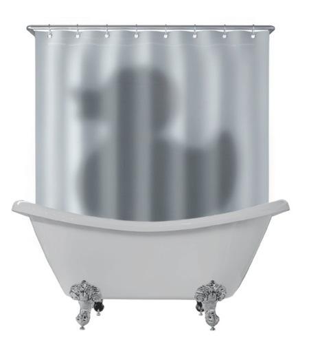 Hay un pato tras la cortina de mi ducha