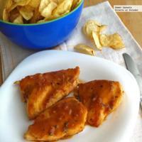 Pollo con salsa de mostaza dulce. Receta