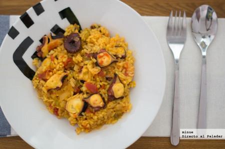 Receta de arroz con pulpo a la menorquina