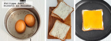 Sandwich Huevo Queso Receta
