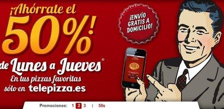 Telepizza se suma a los descuentos de hasta el 50%
