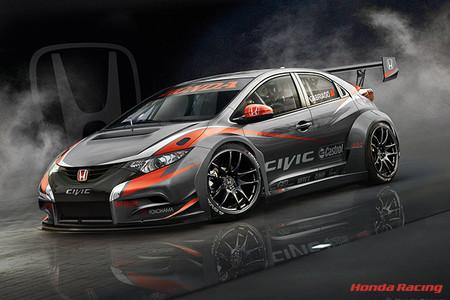 Honda descubre el primer boceto de su musculoso Civic para el WTCC
