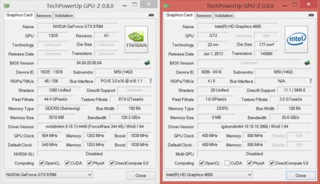 MSI GS60 GPUz