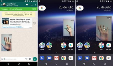 Las videollamadas de WhatsApp ya son compatibles con el modo Picture in Picture de Android O