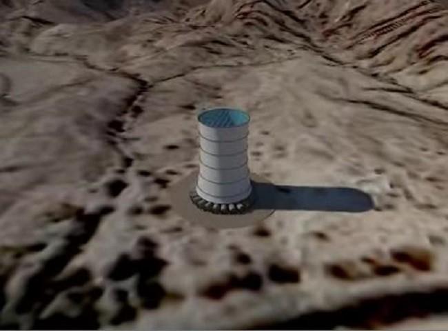 Una torre generadora de energía eléctrica, el edificio más alto de EE.UU.