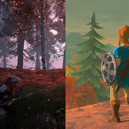 Horizon Zero Dawn y Zelda Breath of The Wild