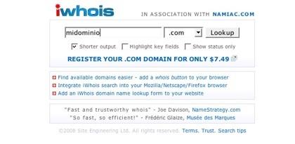 iWhois, buscador de datos de servidores whois eficaz y rápido
