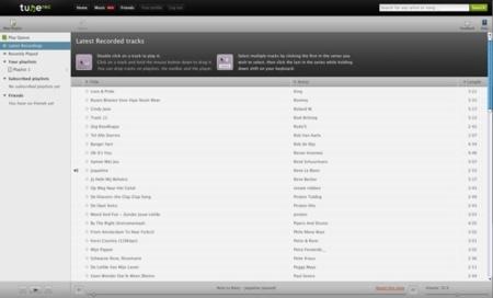 Tunerec, crea y comparte tu biblioteca musical online