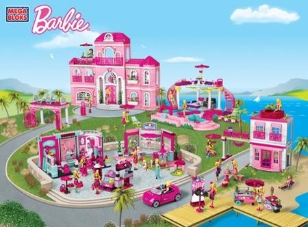 Barbie se estrena en los juguetes de bloques de construcción