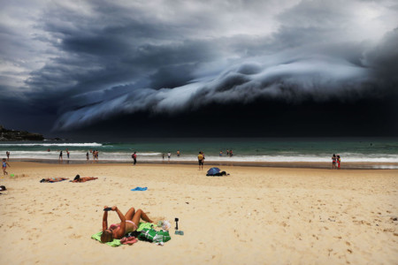 C Rohan Kelly Storm Front On Bondi Beach