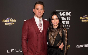 Channing Tatum se vistió de invierno en plena primavera para la premiere de Magic Mike en Las Vegas
